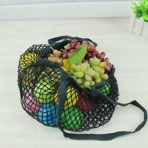 100% cotton black  Euro-style eco grocery bag